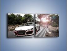 Obraz na płótnie – Audi R8 V10 Spyder – dwuczęściowy kwadratowy poziomy TM209