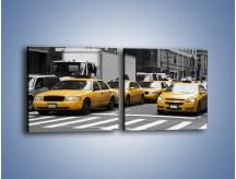 Obraz na płótnie – Amerykańskie taksówki w korku ulicznym – dwuczęściowy kwadratowy poziomy TM219