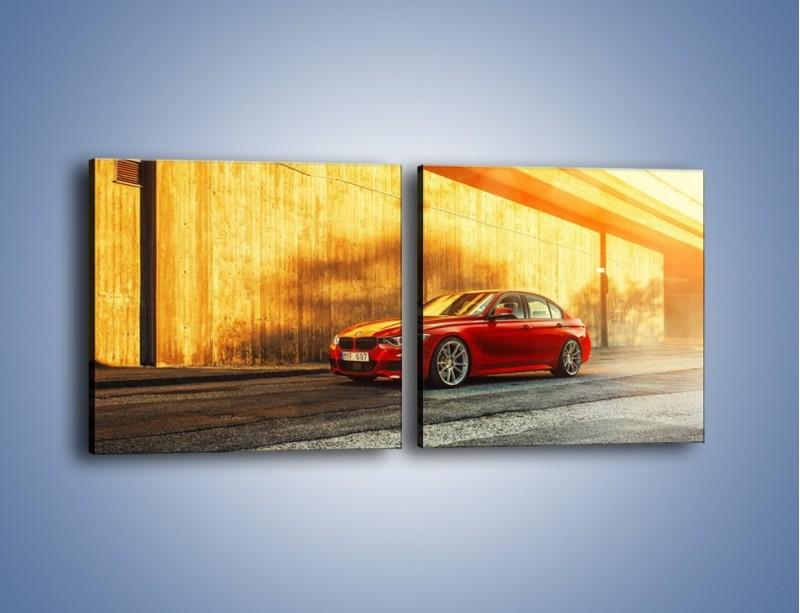 Obraz na płótnie – BMW 3 F32 – dwuczęściowy kwadratowy poziomy TM235