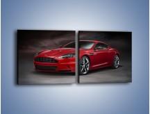Obraz na płótnie – Aston Martin DBS Carbon Edition – dwuczęściowy kwadratowy poziomy TM242