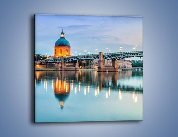 Obraz na płótnie – Most Saint-Pierre w Tuluzie – jednoczęściowy kwadratowy AM721