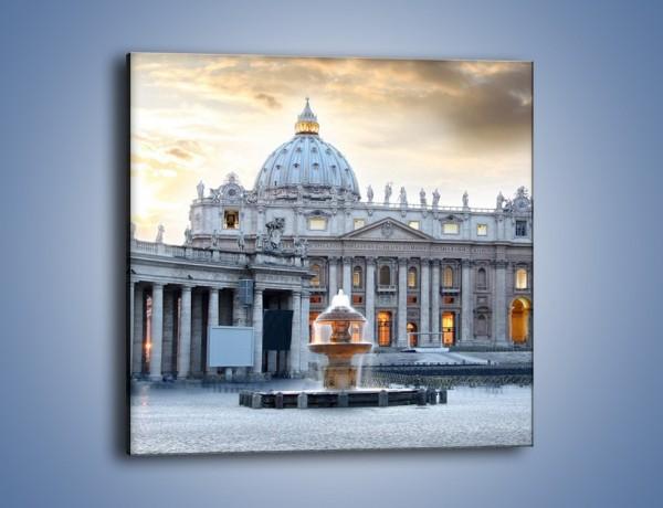 Obraz na płótnie – Bazylika św. Piotra w Watykanie – jednoczęściowy kwadratowy AM722