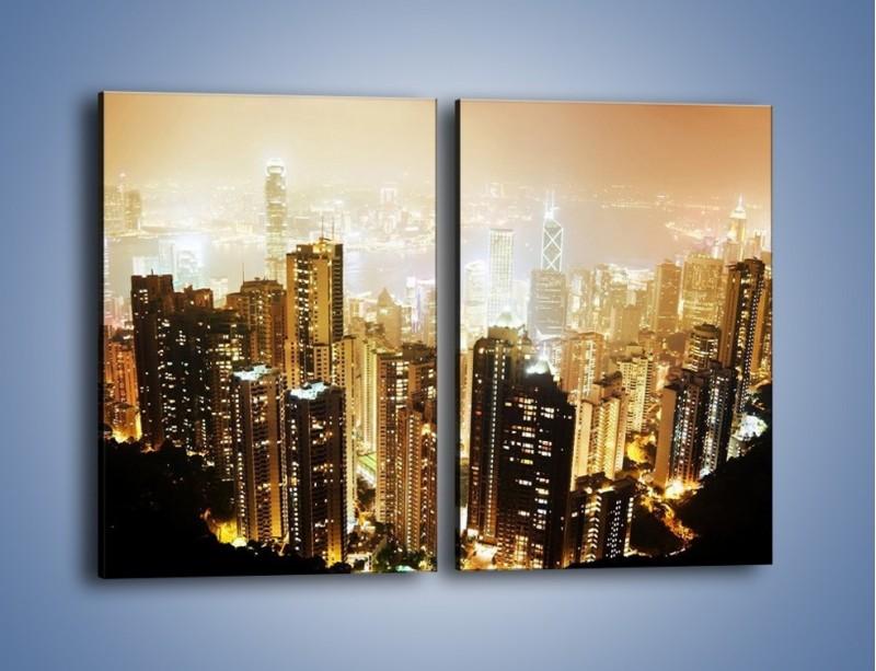 Obraz na płótnie – Miasto widziane z góry – dwuczęściowy prostokątny pionowy AM007