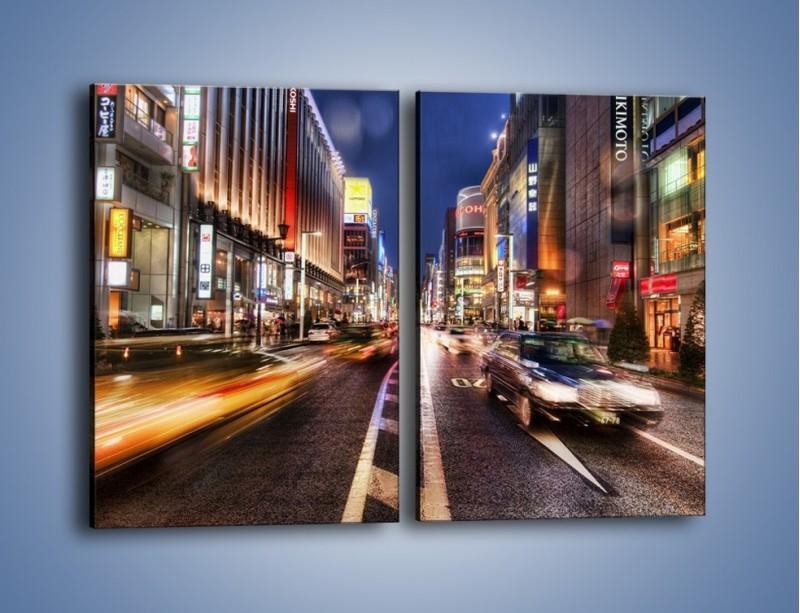 Obraz na płótnie – Tokyo w ruchu – dwuczęściowy prostokątny pionowy AM015