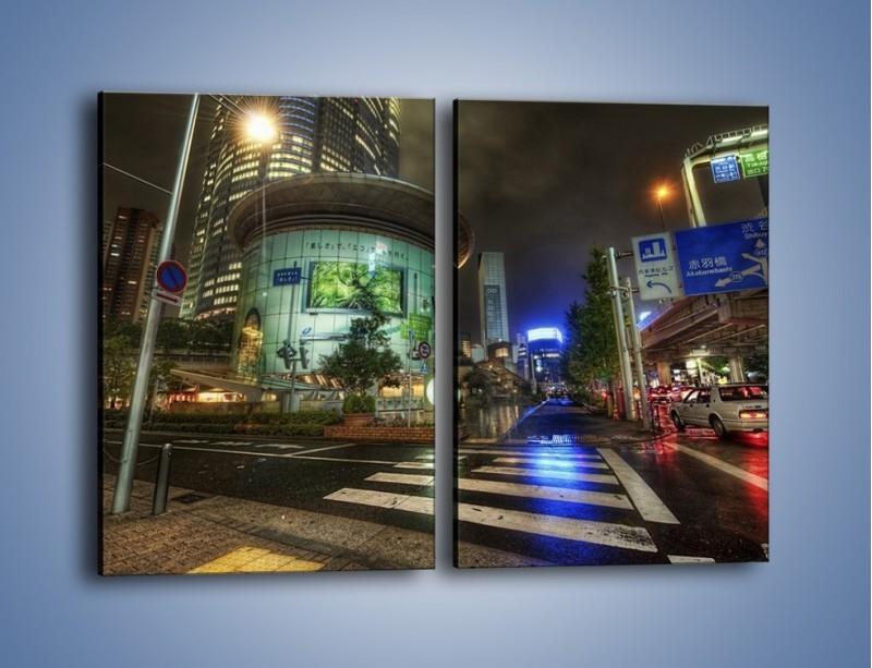 Obraz na płótnie – Spokojne Tokyo nocą – dwuczęściowy prostokątny pionowy AM056