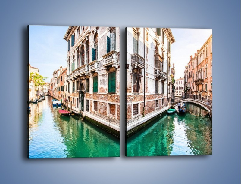 Obraz na płótnie – Skrzyżowanie wodne w Wenecji – dwuczęściowy prostokątny pionowy AM081