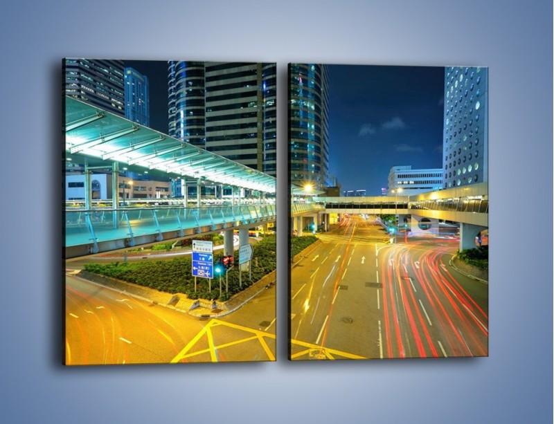 Obraz na płótnie – Droga na lotnisko w Japonii – dwuczęściowy prostokątny pionowy AM088
