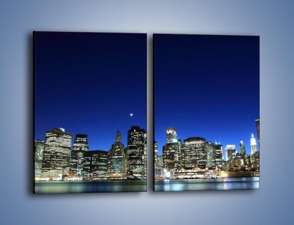 Obraz na płótnie – Nowy York wieczorem – dwuczęściowy prostokątny pionowy AM106