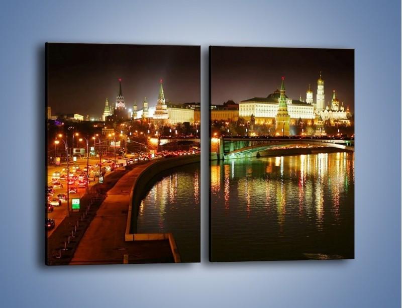 Obraz na płótnie – Moskwa nocą – dwuczęściowy prostokątny pionowy AM118