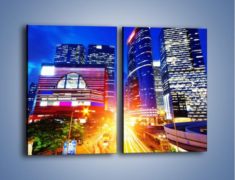 Obraz na płótnie – Miasto w żywych kolorach – dwuczęściowy prostokątny pionowy AM131