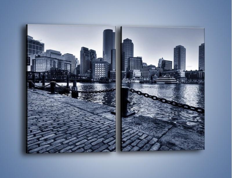 Obraz na płótnie – Wybrukowana wybrzeże miasta – dwuczęściowy prostokątny pionowy AM132