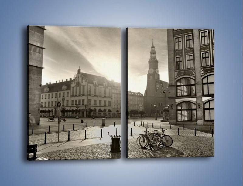 Obraz na płótnie – Rynek Starego Miasta – dwuczęściowy prostokątny pionowy AM136