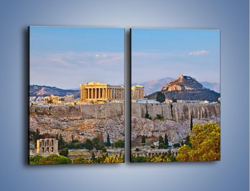 Obraz na płótnie – Ateńskie ruiny – dwuczęściowy prostokątny pionowy AM162