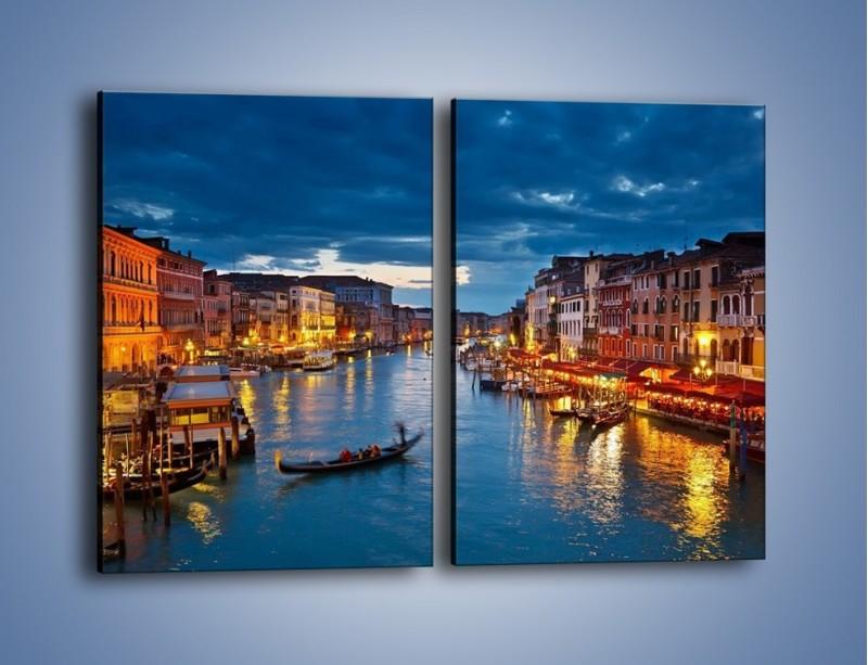 Obraz na płótnie – Wenecja romantyczną porą – dwuczęściowy prostokątny pionowy AM163