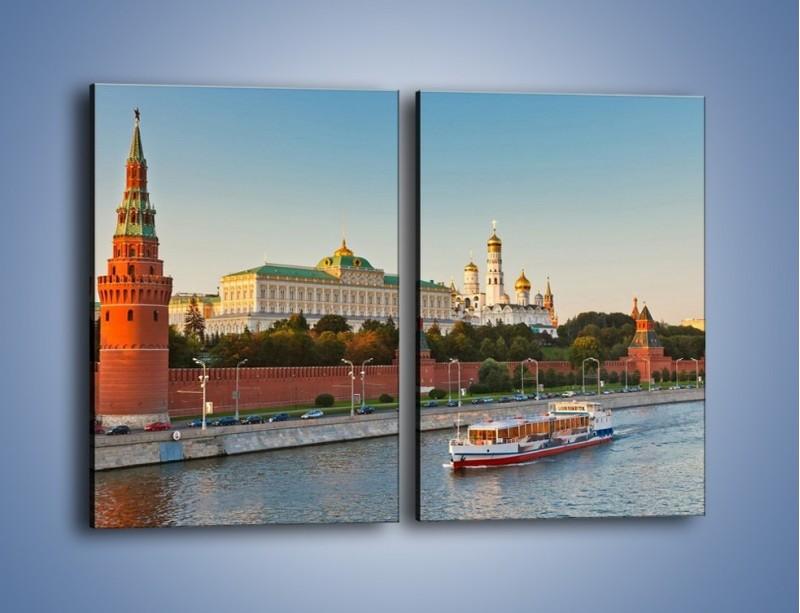 Obraz na płótnie – Kreml w środku lata – dwuczęściowy prostokątny pionowy AM164