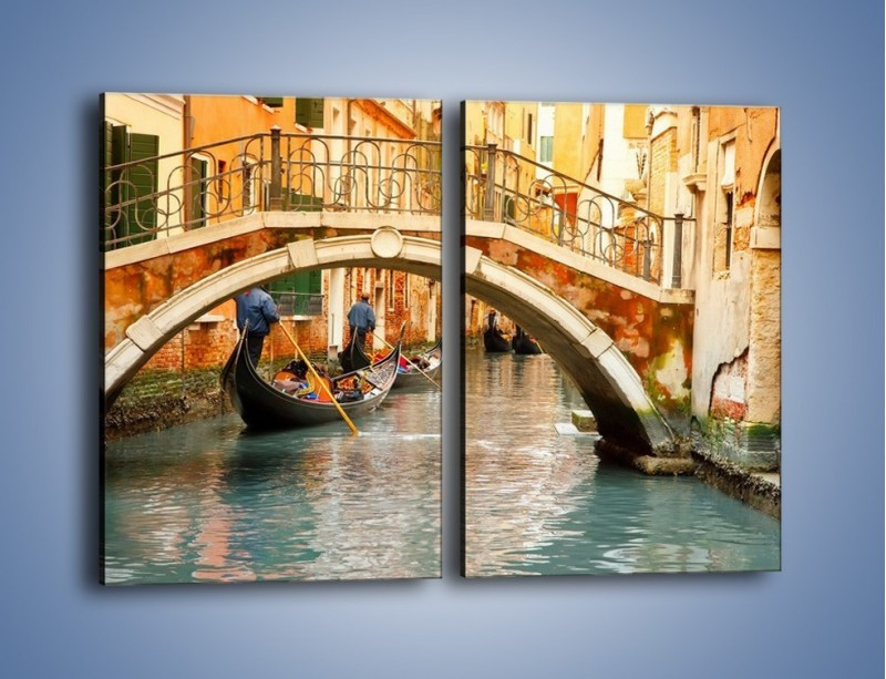 Obraz na płótnie – Weneckie gondole – dwuczęściowy prostokątny pionowy AM172