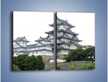 Obraz na płótnie – Azjatycka architektura – dwuczęściowy prostokątny pionowy AM181