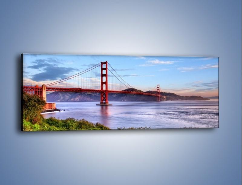 Obraz na płótnie – Most Golden Gate w San Francisco – jednoczęściowy panoramiczny AM444
