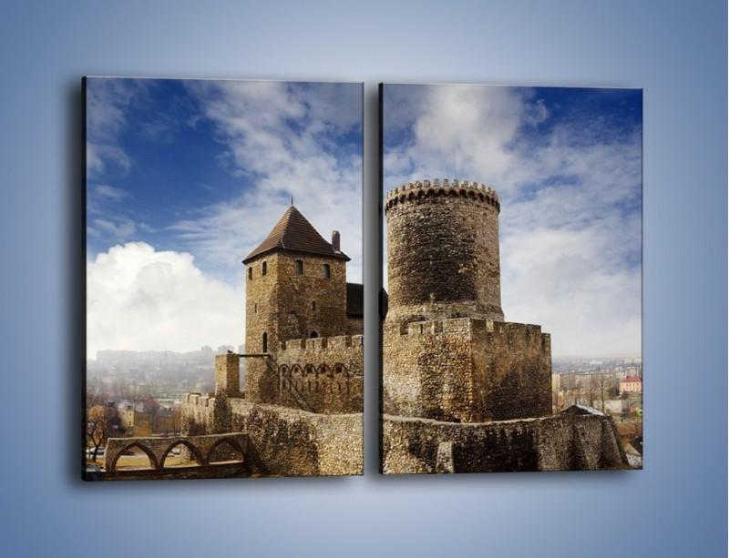 Obraz na płótnie – Średniowieczna fortyfikacja – dwuczęściowy prostokątny pionowy AM201