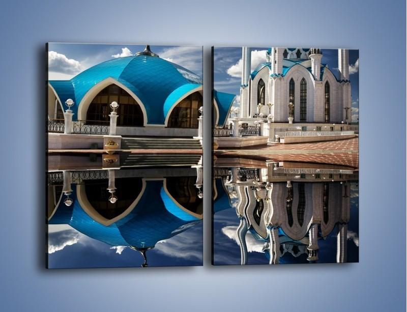 Obraz na płótnie – Meczet w odbiciu wody – dwuczęściowy prostokątny pionowy AM230