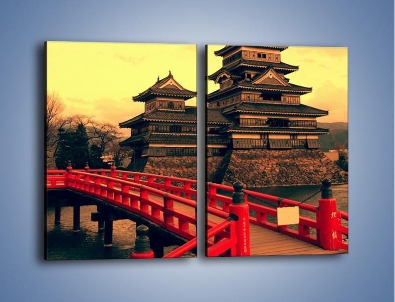 Obraz na płótnie – Japońska architektura – dwuczęściowy prostokątny pionowy AM235