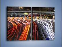 Obraz na płótnie – Autostradowa bramka w ruchu świateł – dwuczęściowy prostokątny pionowy AM236