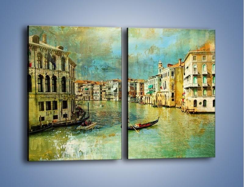 Obraz na płótnie – Weneckie lato w stylu vintage – dwuczęściowy prostokątny pionowy AM245