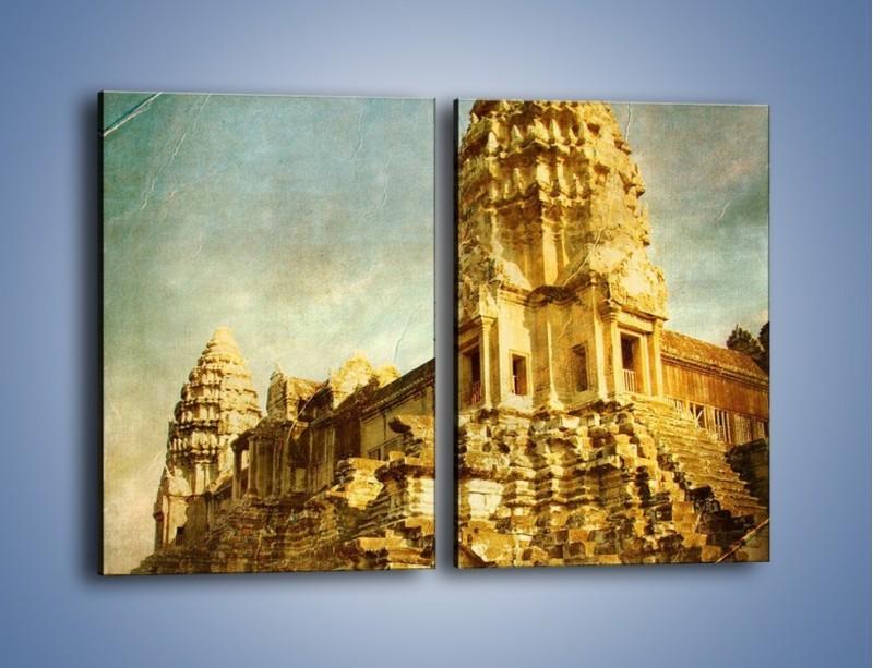 Obraz na płótnie – Starożytna architektura w stylu vintage – dwuczęściowy prostokątny pionowy AM246