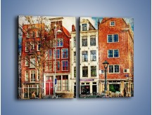 Obraz na płótnie – Amsterdam w stylu vintage – dwuczęściowy prostokątny pionowy AM258