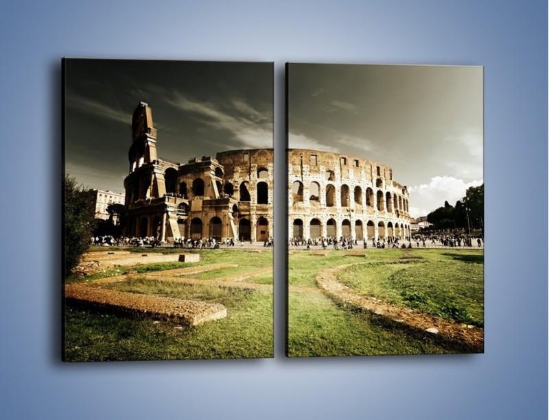 Obraz na płótnie – Koloseum przed burzą – dwuczęściowy prostokątny pionowy AM271