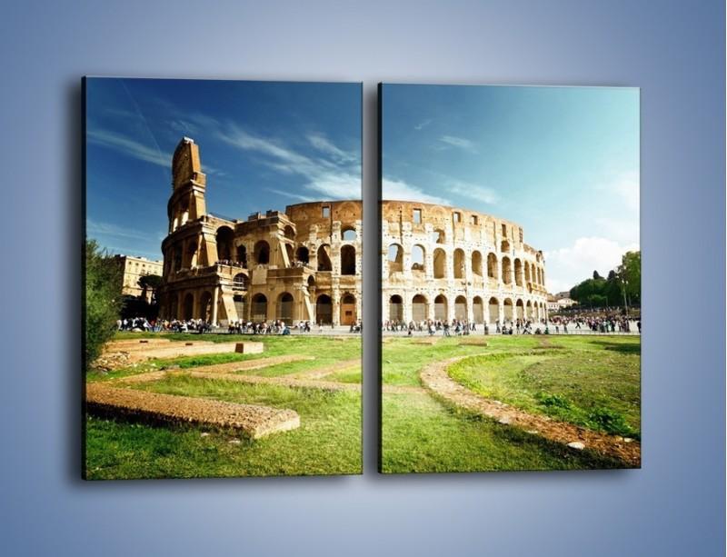 Obraz na płótnie – Koloseum w piękny dzień – dwuczęściowy prostokątny pionowy AM273