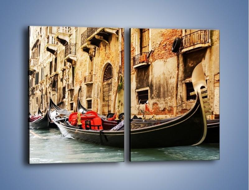 Obraz na płótnie – Wenecka gondola – dwuczęściowy prostokątny pionowy AM286