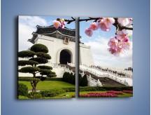 Obraz na płótnie – Azjatycka architektura – dwuczęściowy prostokątny pionowy AM299