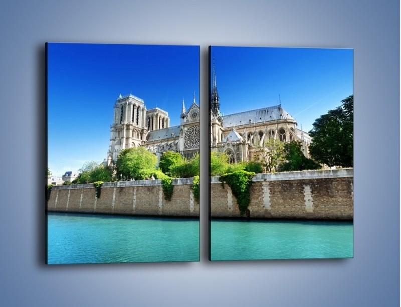Obraz na płótnie – Katedra Notre-Dame – dwuczęściowy prostokątny pionowy AM305