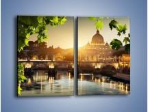 Obraz na płótnie – Bazylika w Rzymie o zachodzie słońca – dwuczęściowy prostokątny pionowy AM306