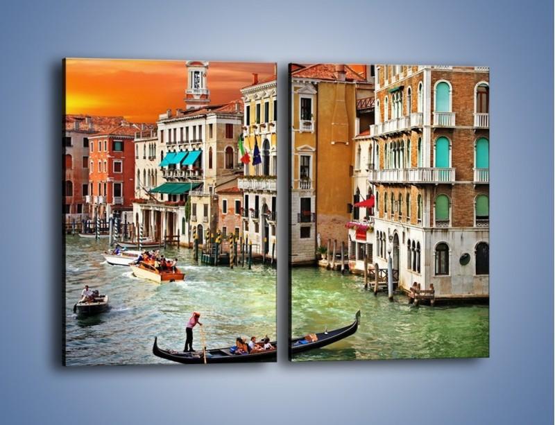 Obraz na płótnie – Kolory Wenecji o zachodzie słońca – dwuczęściowy prostokątny pionowy AM307