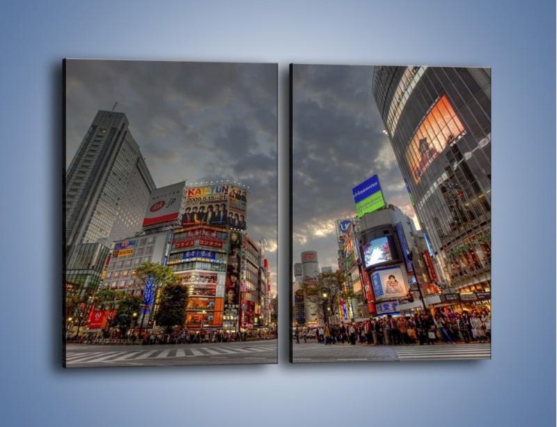 Obraz na płótnie – Uliczny tłok w Tokyo – dwuczęściowy prostokątny pionowy AM312