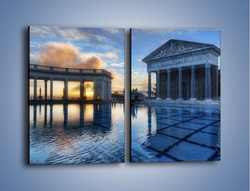 Obraz na płótnie – Neptune pool w Kalifornii – dwuczęściowy prostokątny pionowy AM320