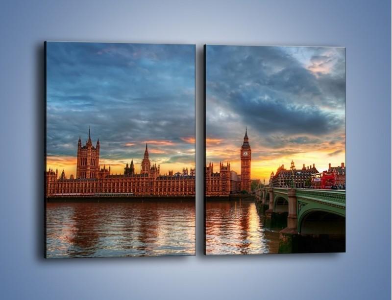 Obraz na płótnie – Pałac Westmnisterski i Big Ben – dwuczęściowy prostokątny pionowy AM321