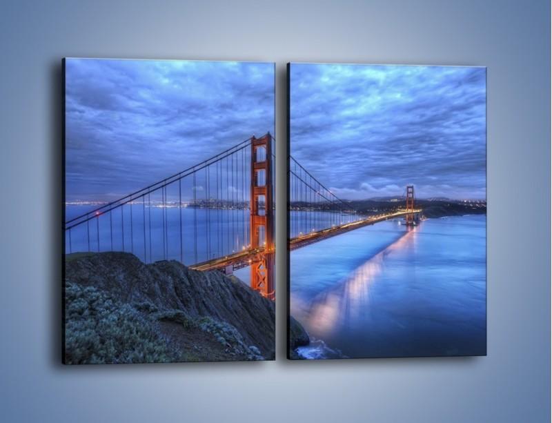 Obraz na płótnie – Most Golden Gate – dwuczęściowy prostokątny pionowy AM328