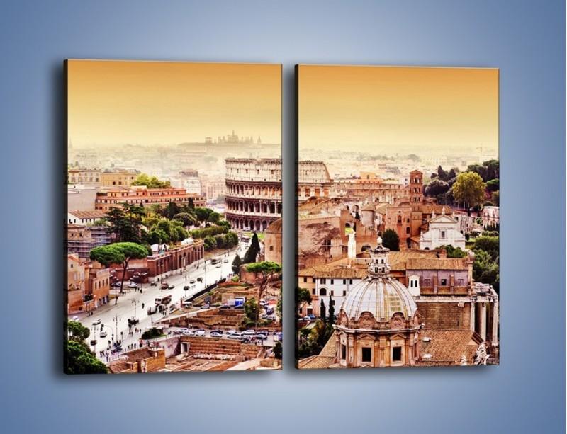 Obraz na płótnie – Panorama Rzymu – dwuczęściowy prostokątny pionowy AM338