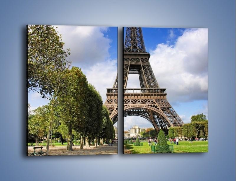 Obraz na płótnie – Wieża Eiffla – dwuczęściowy prostokątny pionowy AM340