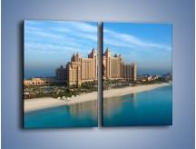Obraz na płótnie – Atlantis Hotel w Dubaju – dwuczęściowy prostokątny pionowy AM341