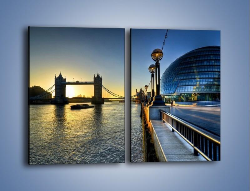 Obraz na płótnie – Londyński Tower Bridge – dwuczęściowy prostokątny pionowy AM348