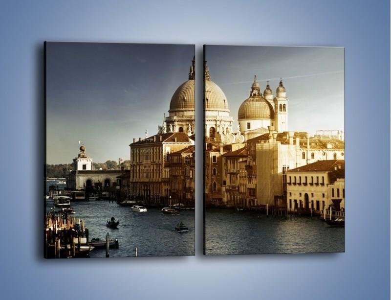 Obraz na płótnie – Zapadający zmrok na Wenecją – dwuczęściowy prostokątny pionowy AM356