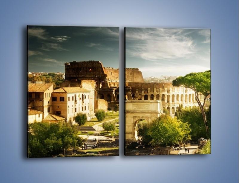 Obraz na płótnie – Ruiny starożytnego Rzymu – dwuczęściowy prostokątny pionowy AM357