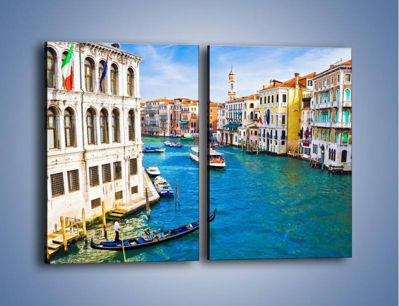 Obraz na płótnie – Kolorowy świat Wenecji – dwuczęściowy prostokątny pionowy AM362