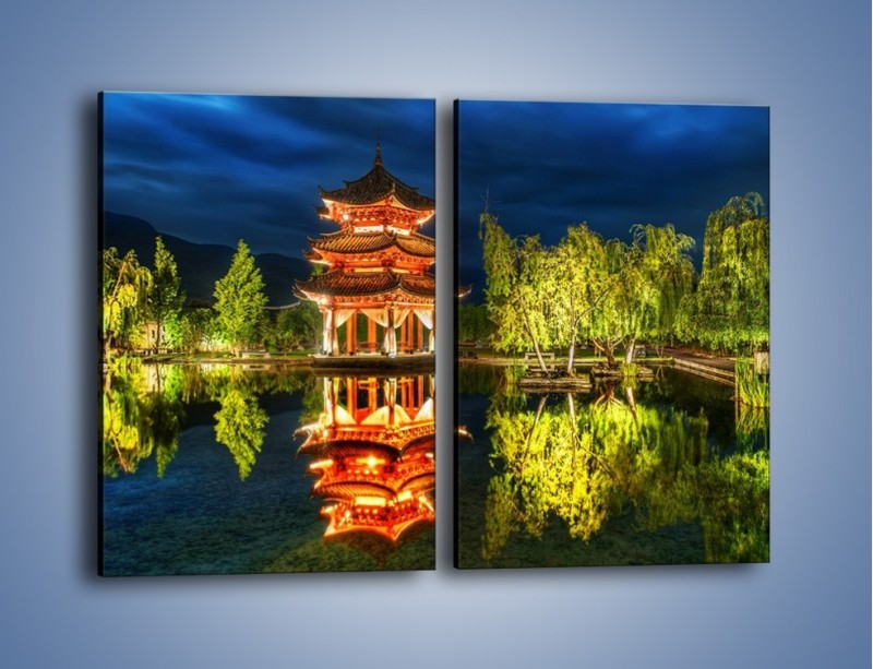 Obraz na płótnie – Urokliwy park w Chinach – dwuczęściowy prostokątny pionowy AM365