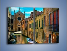 Obraz na płótnie – Cały urok Wenecji w jednym kadrze – dwuczęściowy prostokątny pionowy AM371