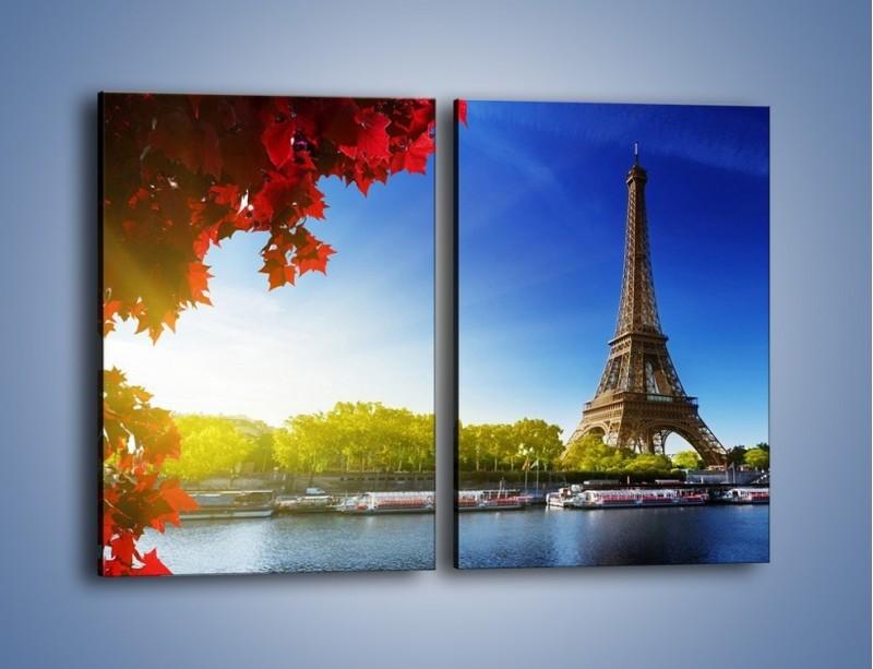 Obraz na płótnie – Wieża Eiffla w piękny dzień – dwuczęściowy prostokątny pionowy AM373